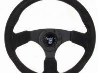 Sportlenkrad von RAID aus Rauhleder mit 360mm Durchmesser