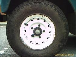 Land Rover HD-Felge, pulverbeschichtet