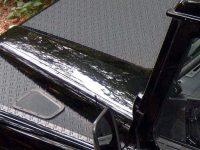 Motorhaubenblech für Defender 90/110/130 Schwarz pulverbeschi