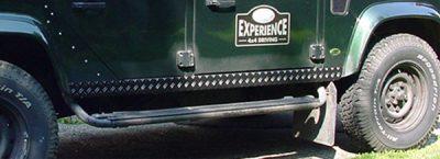 Schwellerverkleidung 2-teilig Defender 110 schwarz eloxiert