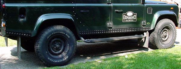 Schwellerverkleidung 4-teilig 110er niedrige Heckteile schwarz e