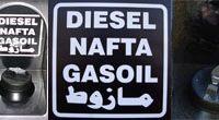 Aufkleber - Diesel in 4 Sprachen silber
