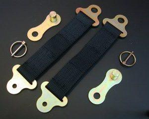 Retaining straps Satz with quick disconnect
