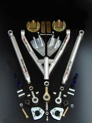 Upgrade rear(rear adj. Radius arms + triangle+ inclined spring b