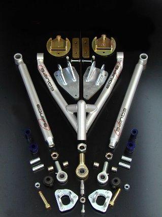 Upgrade rear(rear adj. Radius arms + triangle+ inclined spring b