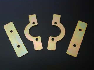 Spring retaining plate, rear long (D110/130)