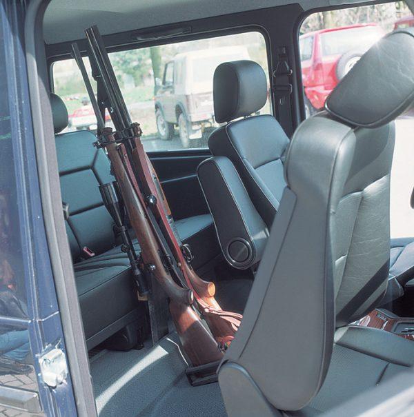 Universalgewehrhalter für 2 Gewehre für Transport im Innenraum