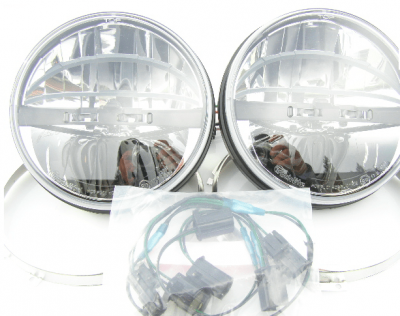 """LED Hauptscheinwerfer Set 7"""" für alle Defender von TRUCK LITE"""
